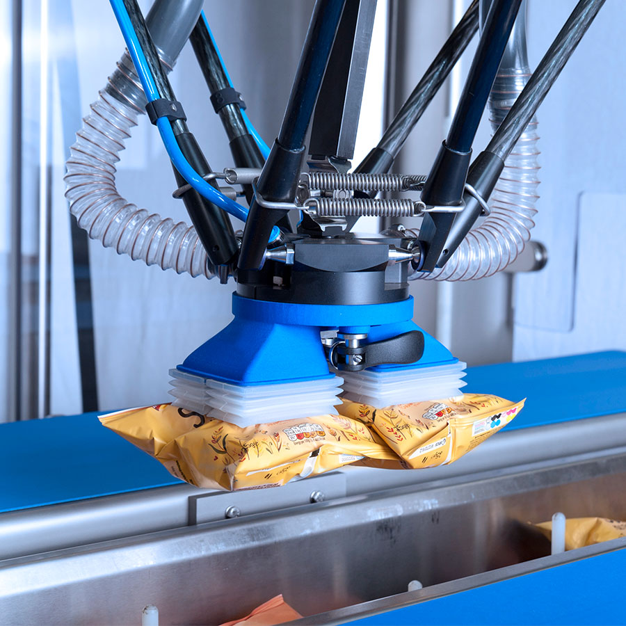 Pick and Place Packaging Food With Robots