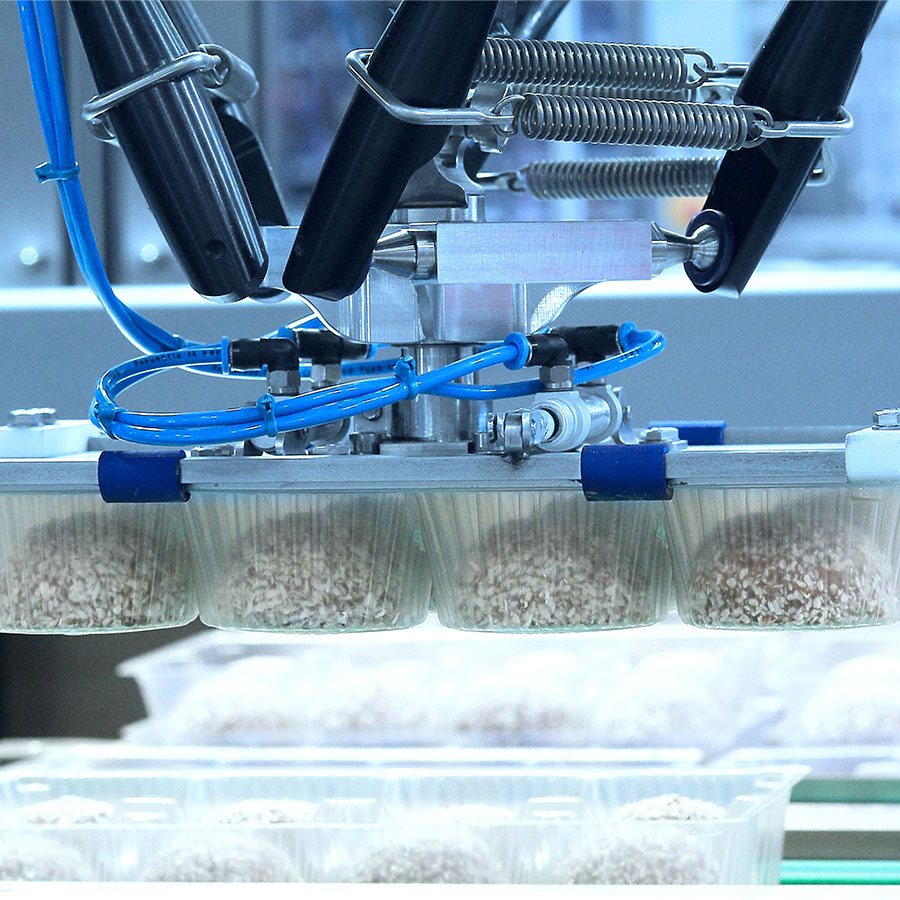 Case Packing Food With Robots