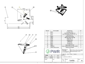 PWR Exloded parts diagram